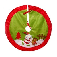 Colourful Santa Tree Skirt Small 80 cm