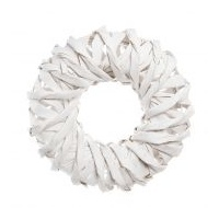 White Rattan Wreath 40 cm