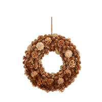Twinkle Gold Pinecone Wreath 39 cm