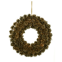 Natural Pinecone Wreath 38 cm