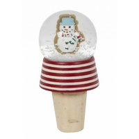 Snowman Cookie Snow Glove Bottle Stop