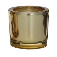 Gold Metallic Tealight Holder  6x6.5cm