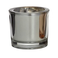 Silver Metallic Tealight Holder 6 x 6.5cm