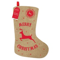 Hessian Stocking With Red Reindeer
