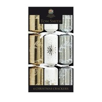 Gold Silver White crackers 30 cm 6pk