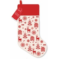 Calico Stocking Red/Natural