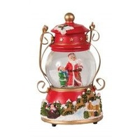 Snowdome - Red Lantern with Santa