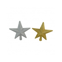 20 cm Glitter Star Tree Topper Gold