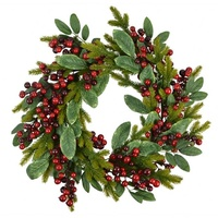 Red Mixed Berry Wreath 50 cm