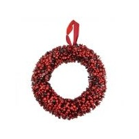 Red Berry Wire Wreath 40 cm (L)