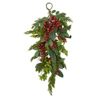 Red Berry / Crabapple Bunch Door Hanger 66 cm