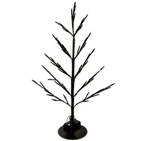 Black Flat Tree With White Leds 60 cm