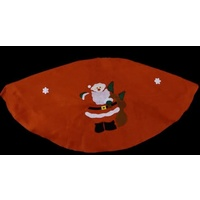 Budget Red Felt With Santa 140 cm