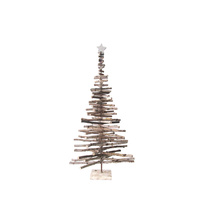 Birch Log Tree With Tree Topper
