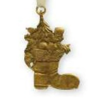 Gold Santa Sack Ornament 6 cm