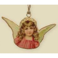 Angel Pink Dress Ornament 8 cm
