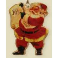 Santa with Scroll Ornament 10 cm