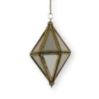 Mirrored Diamond Ornament Small 6x10 cm