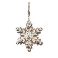 Yosemite Snowflake with Bells White