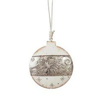 Blitzen Embossed Ball Silver/Cream