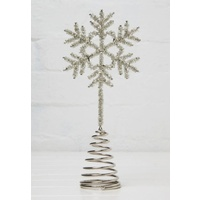 Beaded Snowflake Tree Topper