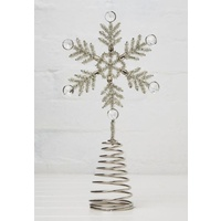 Intricate Beaded Snowflake Tree Topper