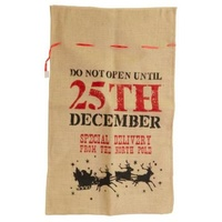 Hessian Stocking Do Not Open 75 x 50CM