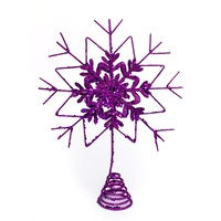 Snowflake Tree Topper Purple