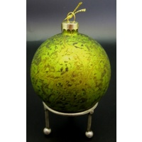 Ball Green Glass Molten 8 cm
