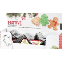 Festive Cookie Cutters (Set Of 3)