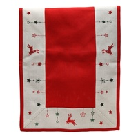Table Runner  172 cm L x 40 cm W  Red Reindeer