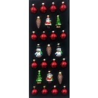 25 Pc 5 cm Assorted Ornament Set