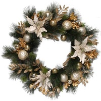 Champagne Luxury Large Wreath 76 cm