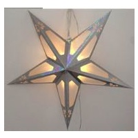 60cm LED Silver Paper Star
