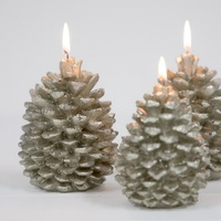 Champagne Pinecone Candle