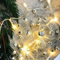 Silver Bell & LED Garland 140CM
