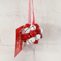 5 cm Red/White Bell Ornament