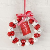 17 cm Red/White Bell Ornament