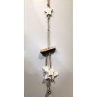 Stars and Bells White / Timber 37 cm
