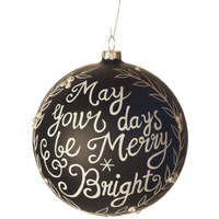 Glass Ball 'May Your Days' Ornament
