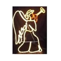 Christmas Lights Rope Angel Trumpet Motif