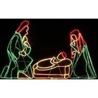 Christmas Rope Lights Jesus Nativity Scene Motif