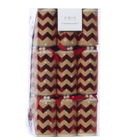 Red & Natural Zigzag  6pk