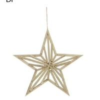 Timber 5 Point Twig Hanging Star 37.5cm