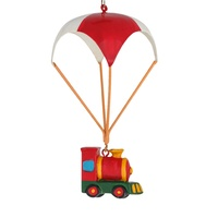 Metal Parachute with Hanging Train 12cm