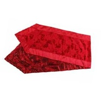 Poinsettia Red Jacquard Table Runner 183 cm