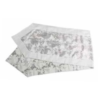 Silver Paisley Jacquard Table Runner 183 cm