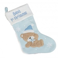 Babies 1st Christmas Stocking 42 cm - Blue