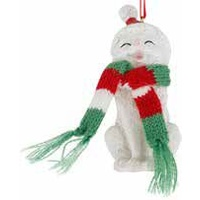 White Kitty Hanging Decoration 9 cm