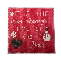 Most Wonderful Time Of Year Plaque 44 cm